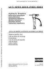 LH 11, 18/19 E, 22/23 E, 27/28 E, 39/40 E - Crowder Hydraulic Tools