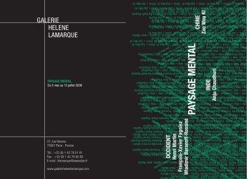 Paysage mental - GALERIE HELENE LAMARQUE