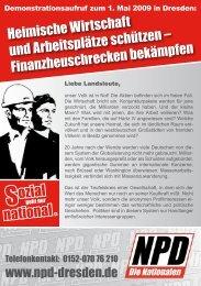 ozial national . - NPD-Dresden