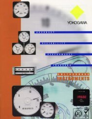 Yokogawa Switchboard Meter Catalog - Davidson Sales Co.