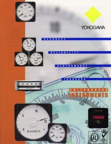 Yokogawa Switchboard Meter Catalog - Davidson Sales Co.