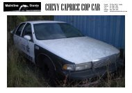 CHEVY CAPRICE COP CAR - Mainline Stunts
