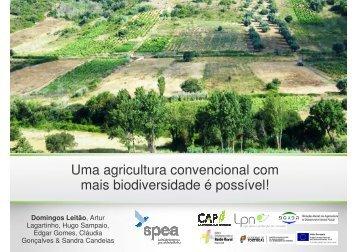 Uma agricultura convencional com mais biodiversidade é possível!