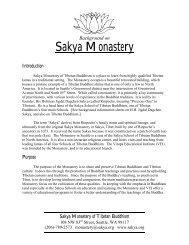 Sakya Monastery.pdf - the Sakya Monastery of Tibetan Buddhism