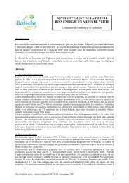 synthèse bois énergie ardeche verte - Syndicat Mixte Ardèche Verte