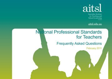 National Professional Standards for Teachers - AITSL, Australian ...