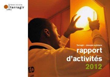 Téléchargez le rapport d'activités 2012 de Terragir