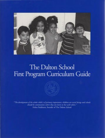 First Program Curriculum Guide - The Dalton School