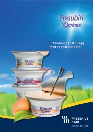 Fresubin® YOcrème - produktfolder - Fresenius Kabi