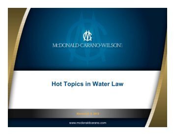 Hot Topics in Water Law - McDonald Carano Wilson LLP