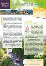Mai 2013 - Syndicat Mixte Ardèche Verte
