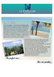 Brochure Le Papillon Résidence - sxm Luxury Properties