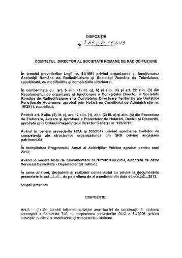 comitetul director al societatii romane de radiodifuziune