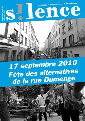 17 septembre 2010 Fête des alternatives de la rue Dumenge - Silence