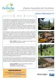 Bulletin information 2 Charte Forestiere - Syndicat Mixte Ardèche Verte