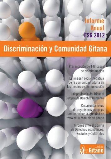 Informe Discriminación y Comunidad Gitana. 2012 - Fundación ...