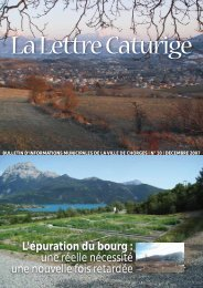 Bulletin municipal - Trimestriel - Décembre 2007 - Mairie de Chorges