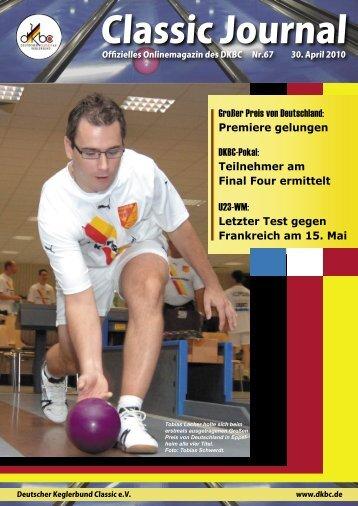 Classic Journal Online 67.2010 - Deutscher Kegler