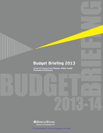 budget briefing 2013 - Imranghazi.com