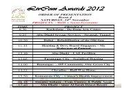 LivCom Awards – Al Ain 2012 Order of Presentations (PDF)