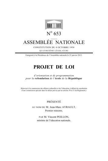 N° 653 ASSEMBLÉE NATIONALE PROJET DE LOI