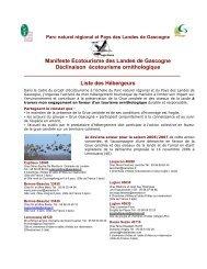 Pôle touristique rural - Ecotourisme dans les Landes de Gascogne