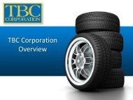TBC Corporation Overview - the 2013 SC International Trade ...