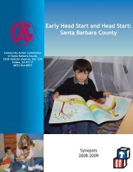 Early Head Start and Head Start - Community Action Commission