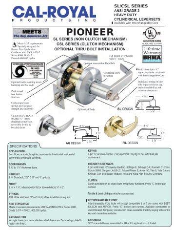 pioneer sl series - Cal-Royal
