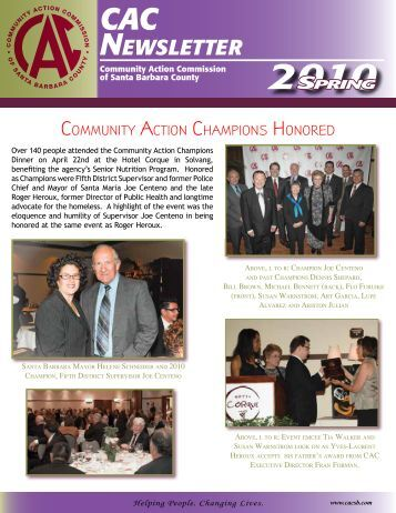 2010 spring cac newsletter - Community Action Commission