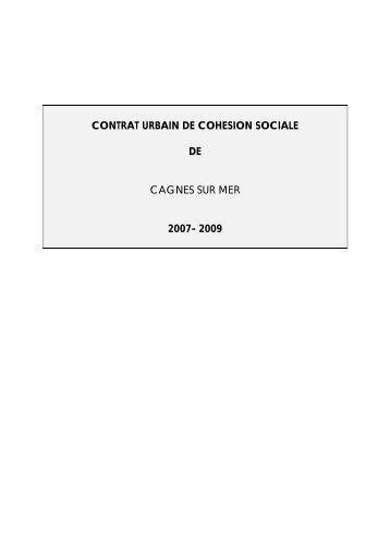 contrat urbain de cohesion sociale de cagnes sur ... - CRPV-PACA