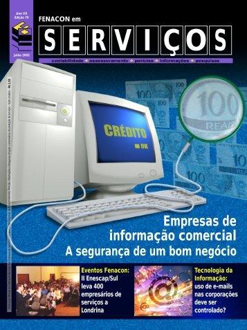 Empresas de informação comercial - Fenacon