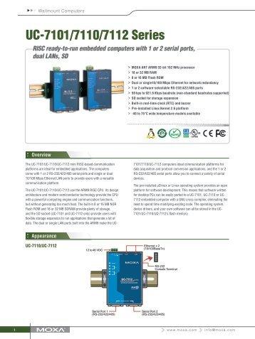 UC-7101/7110/7112 Series - Moxa