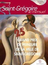 Saint-Grégoire, le Mensuel Novembre 2011