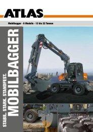Mobilbagger Gesamtprospekt - ATLAS Hydraulikbagger