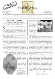 NEWS N. 16 - The Venice International Foundation