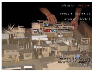Projets 2007-2011 - grif - Université de Montréal
