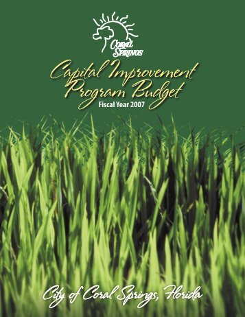 Fiscal Year 2007 Capital Improvement Program Budget