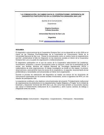 La Comunicacion: un camino hacia el cooperativismo ... - aader.org.ar