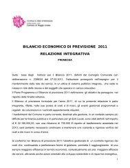 bilancio economico di previsione 2009 - Scuole e Nidi d'Infanzia