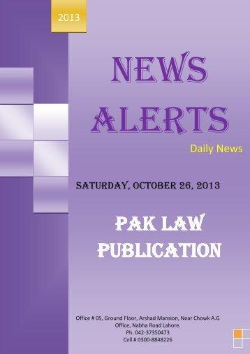 News Alerts - Imranghazi.com