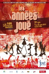 Programme du festival disponible ICI - Mairie de Joué lès Tours