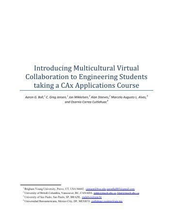 Introducing Multicultural Virtual Collaboration to Engineering ... - PACE