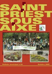 Octobre 2009 Bulletin municipal n°26 - Saint-Priest-sous-Aixe