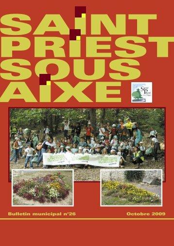 Octobre 2009 Bulletin municipal n°26 - Saint-Priest-sous-Aixe