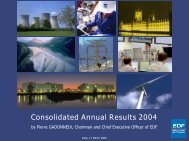 Consolidated Annual Results 2004 - Shareholders and investors