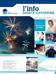 Info printemps 2012 - Ville de Sainte-Catherine
