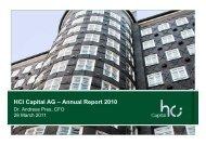 HCI Capital AG – Annual Report 2010