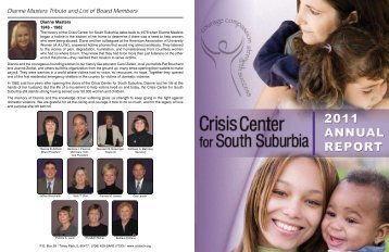 Dianne Masters Tribute and List of Board Members - Crisis Center ...