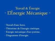 L'Energie Mécanique